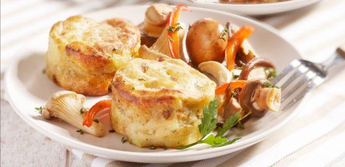 Gratinado de patata con champiñon