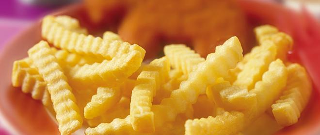 patata crinkle congeada