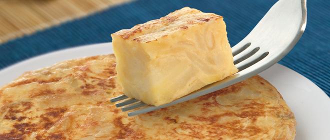 tortilla patata con cebolla congelada
