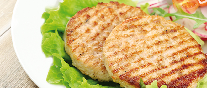 burger mixta pollo cerdo congelada eurofrits