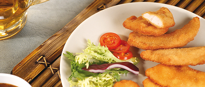 fingers pollo marinado congelado eurofrits