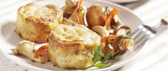 gratinado champiñones patatas