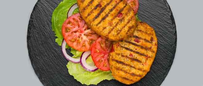 Burger pimiento con semillas de amapola
