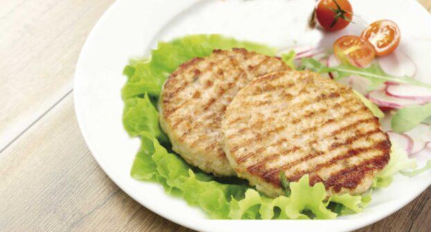 Burger mixta de pollo y cerdo Eurofrits