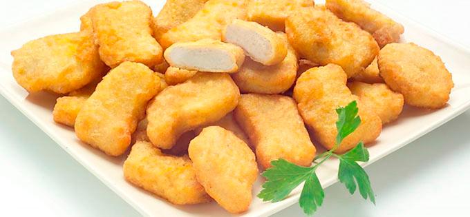 Nugget de pollo frito Eurofrits